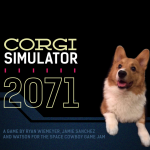 Corgi Simulator 2071: Title Screen